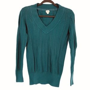 NEW Nevada Sweater Knit Soft Cozy V Neck XS Teal